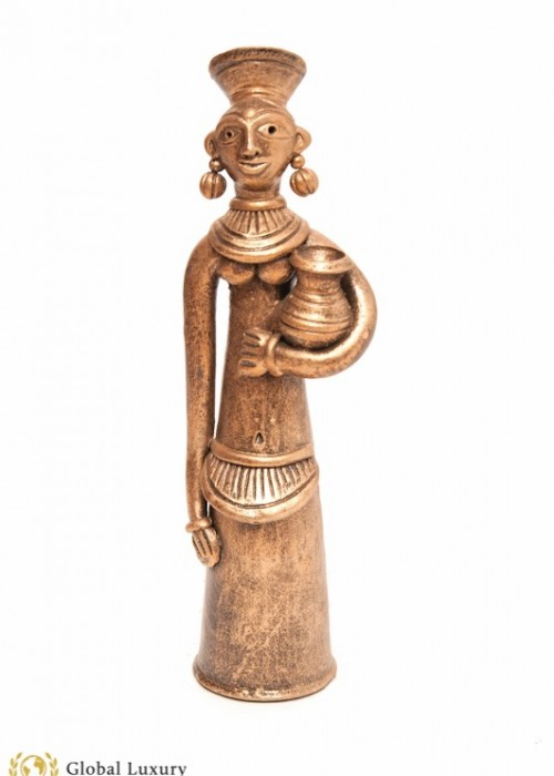 INDIAN LADY TERRACOTTA/DHOKRA STATUE