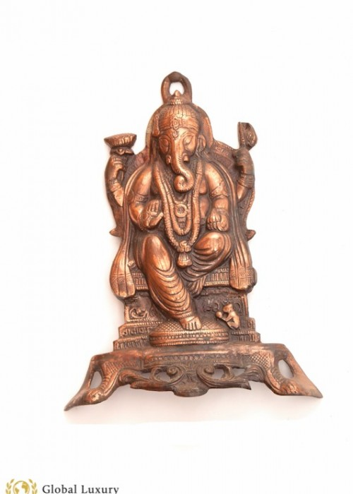 GANESH (LORD OF SUCESS) WALL DECOR (VINTAGE, COPPER)